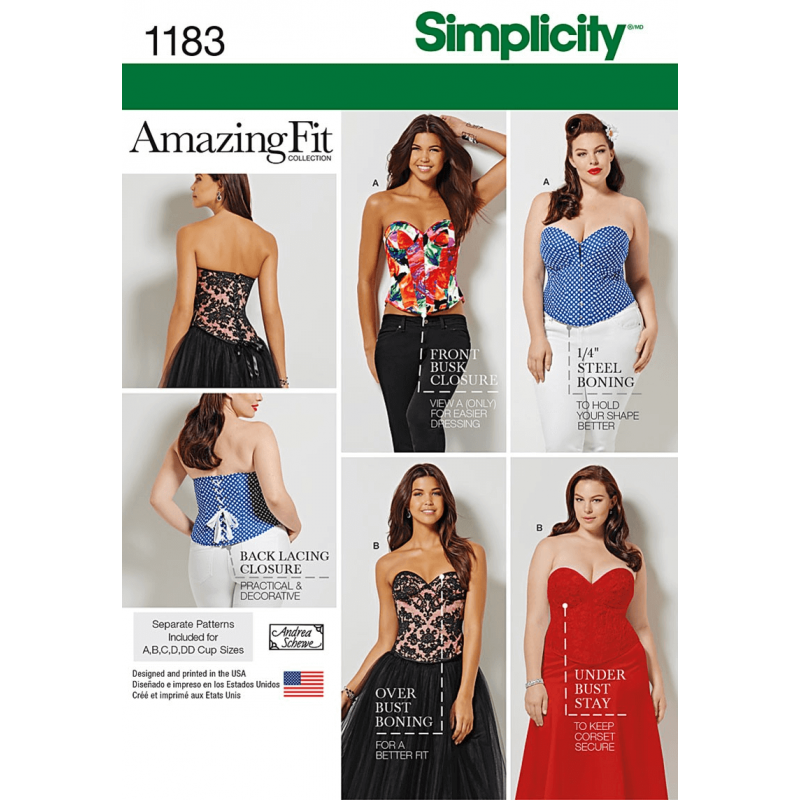 Misses And Plus Size Corsets Vintage Amazing Fit Simplicity Sewing