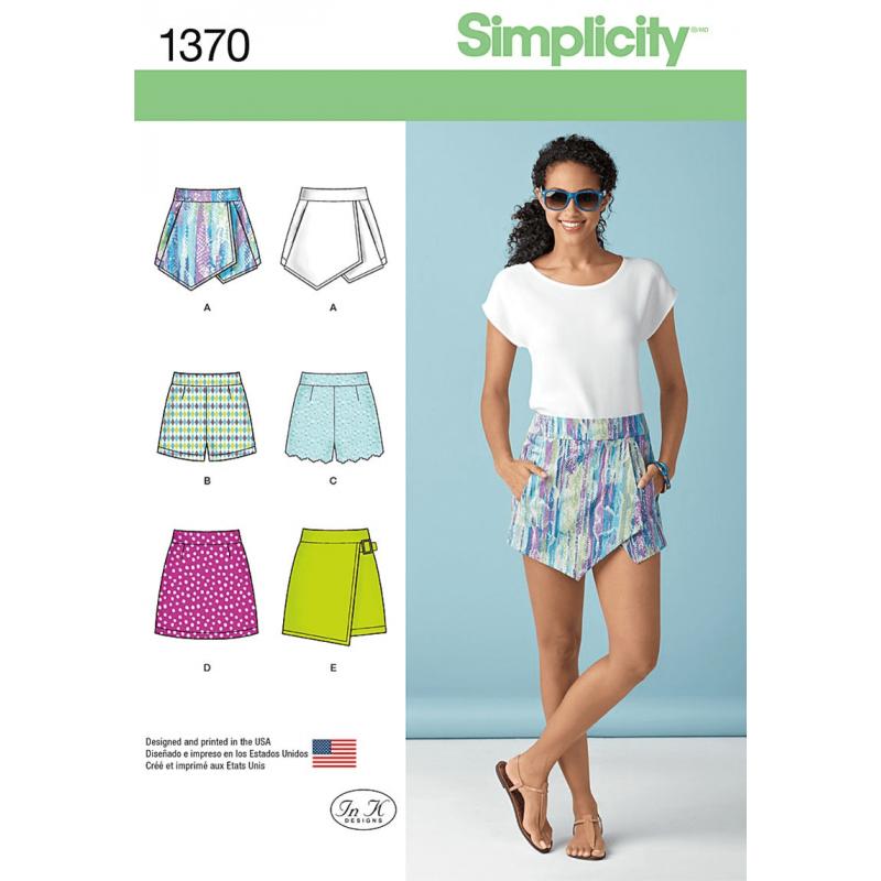 Misses Short Shorts Skort And Mini Skirt Simplicity Sewing Patter