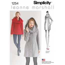 Misses' Leanne Marshall Easy Lined Coat or Jacket Simplicity Sewing Pattern 1254