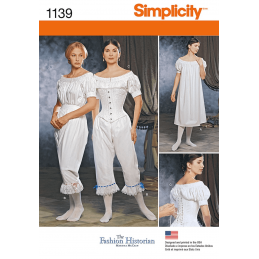 Simplicity Sewing Pattern 1139 Misses Civil War Undergarments Vintage Historical
