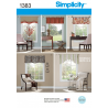 "Valances for 36"" to 40"" Wide Windows Simplicity Sewing Pattern 1383"