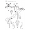 Men's Cosplay Costumes Steampunk or Skeleton Simplicity Sewing Pattern 1039