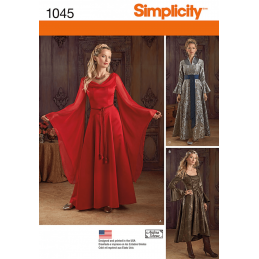 Misses' Fantasy Costumes Gowns Cosplay Simplicity Sewing Pattern 1045