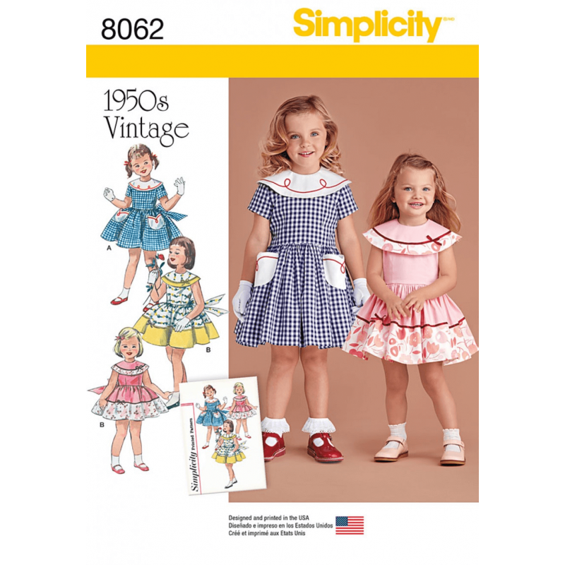 Vintage 1950's Dress for Toddler and Child Simplicity Sewing Pattern 1062