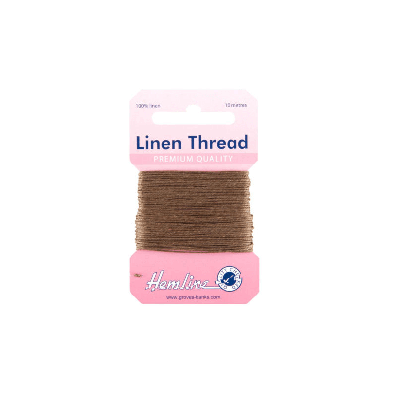Hemline 10m Linen Sewing Thread Premium Quality Upholstery Canvas Yarn