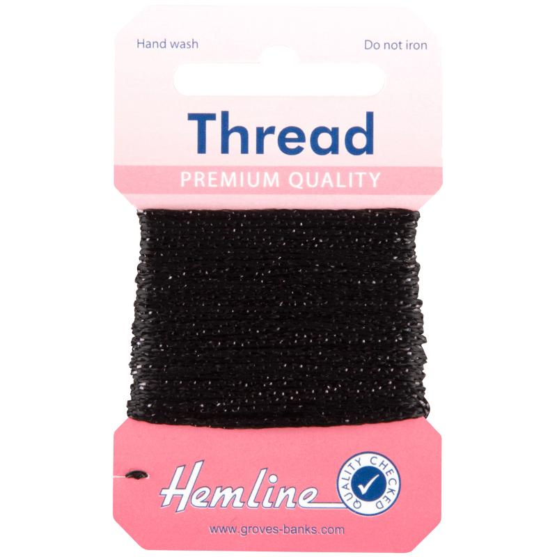 10m Silver Hemline Glitter Thread