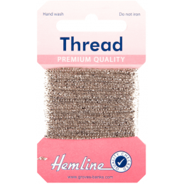 Hemline 10m Glitter Metallic Thread Premium Quality Festive Sparkle Craft Sewing