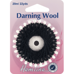 Hemline 20m Darning Wool Yarn Mending Socks