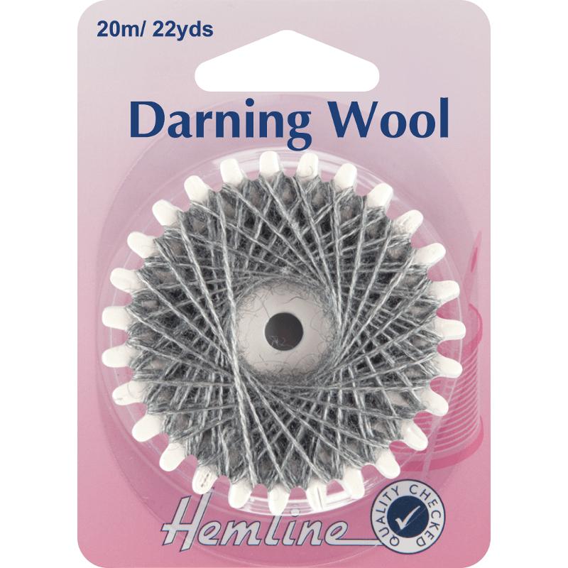 Hemline 20m Darning Wool Yarn Mending Socks