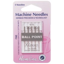 Hemline Ball Point Machine Needles Various Styles And Types