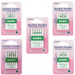 Hemline Sharps Micro Sewing Machine Needles Klasse Woven Synthetics Fabric
