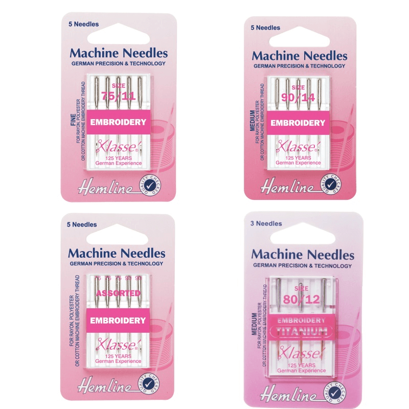 Fine 75/11 Hemline Embroidery Machine Needles Various Styles And Types