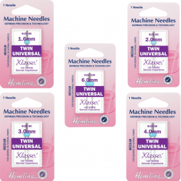 Hemline Twin Universal Machine Needles Various Styles And Types