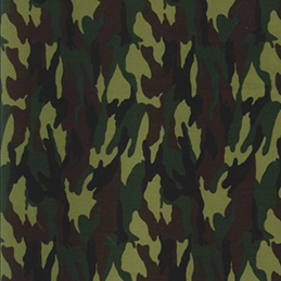 Jungle 100% Cotton Poplin Fabric Rose & Hubble Army Camouflage Military Jungle Woodland