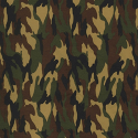 Woodland 100% Cotton Poplin Fabric Rose & Hubble Army Camouflage Military Jungle Woodland