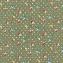 Piccadilly Street Roses Flowers Polka Dots 100% Cotton Poplin Fabric Patchwork