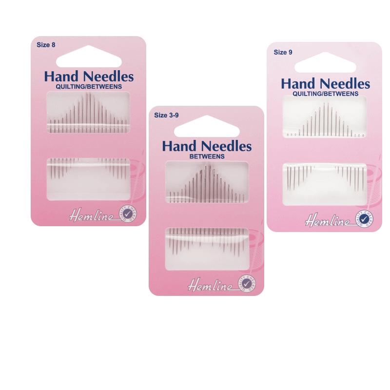 Hemline Quilting/Betweens Hand Sewing Needles In Various Sizes