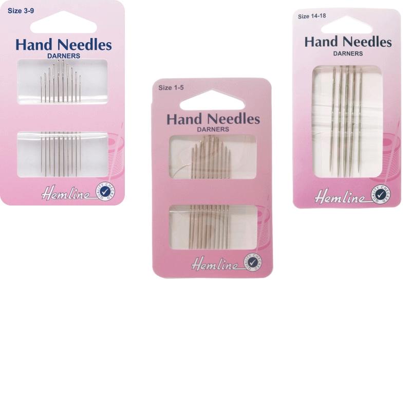 Hemline Darners Hand Sewing Needles In Various Sizes