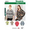 Simplicity Misses Kimonos in Various Styles Shirts Tops Sewing Pattern 8091