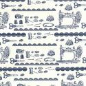 Dressmaking Accessories Scissors Buttons Thimbles 100% Cotton Poplin Fabric Patchwork