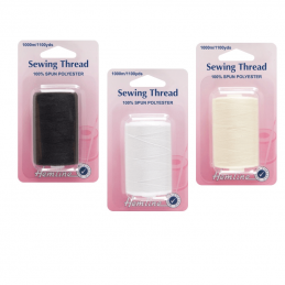 Hemline 1000m 100% Spun Polyester 40/2 Sewing Thread Spool Machine