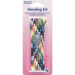 Hemline Mending Kit Plait Sewing Thread Needle Threader Sewing Needle