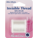 Hemline 200m Invisible Thread Clear 100% Nylon Sewing