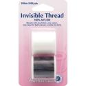 Hemline 200m Invisible Thread Clear & Smoke 100% Nylon Sewing