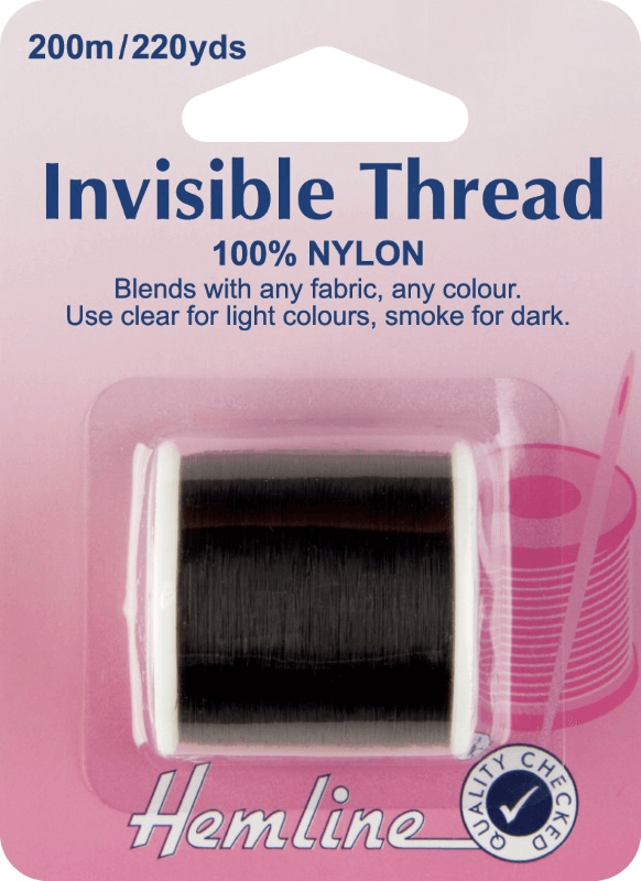 Hemline 200m Invisible Thread Smoke 100% Nylon Sewing