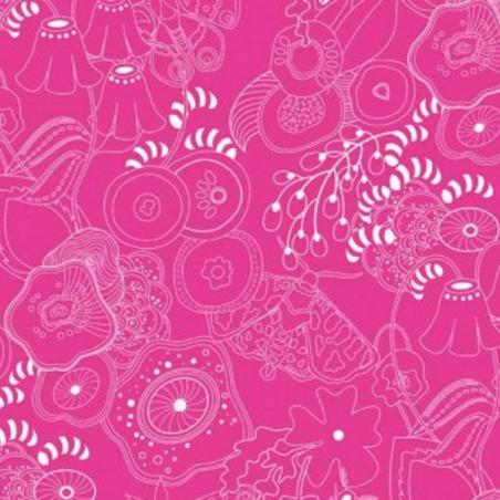 Sun Prints Abstract Flowers Garden 100/% Cotton Patchwork Fabric Makower
