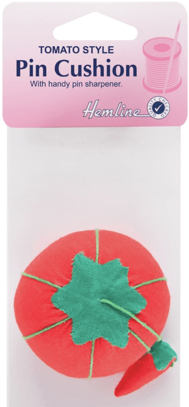 Hemline Tomato Pin Cushion with Attached Sharpener