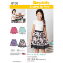 Learn To Sew Flare Skirts Girls and Girls Plus Simplicity Sewing Pattern 8106