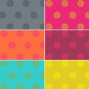 Sun Print Sphere Balls Circles 100% Cotton Patchwork Fabric (Makower)