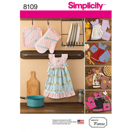 Towel Dresses, Pot Holders and Oven Mitts Simplicity Sewing Pattern 8109