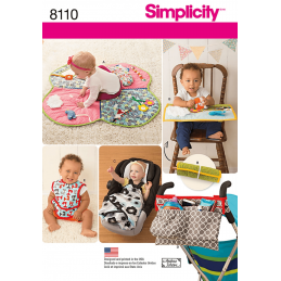 Simplicity Babies' Play Mats, Pram Accessories, and Bibs Sewing Pattern 8110