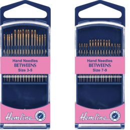 Hemline Premium Quilting/Betweens Hand Sewing Needles In Various Sizes