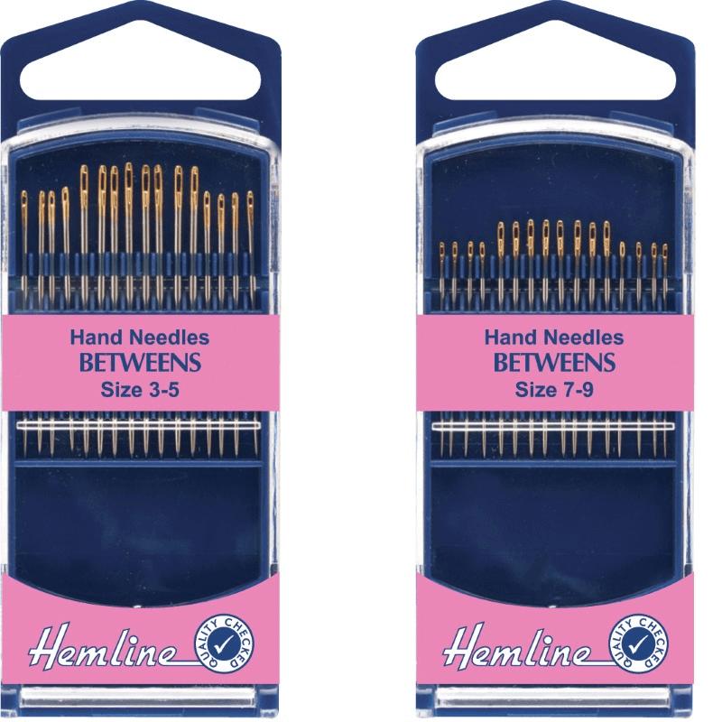 Hemline Premium Quilting/Betweens Hand Sewing Needles In Various Sizes