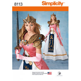 Simplicity Sewing Pattern 8113 Misses' Costume Princess Zelda Inspired Dress