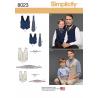 Simplicity Boys' Men's Vest Bow-tie Cummerbund Ascot Sewing Pattern 8023