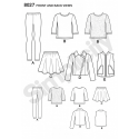 Child and Girls Basics Top Skirt Leggings Jacket Simplicity Sewing Pattern 8027