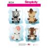 Stuffed Animal Toys Unicorn Pony Zebra Giraffe Simplicity Sewing Pattern 8034