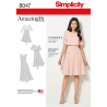 Amazing Fit Misses Dress Flare Skirt Overlay Simplicity Sewing Pattern 8047