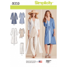 Misses Mix and Match Separates Selection Simplicity Sewing Pattern 8059