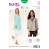 Misses Tunic Shirt Blouse Top Burda Sewing Pattern 6633