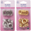 Hemline 12 x 14mm Eyelets Refill Pack Gold or Silver