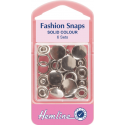 Hemline 6 Sets x 11mm Fashion Snaps Solid Tops
