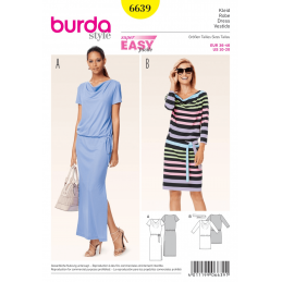 Misses Super Easy Casual Jersey Dress Summer Burda Sewing Pattern 6639