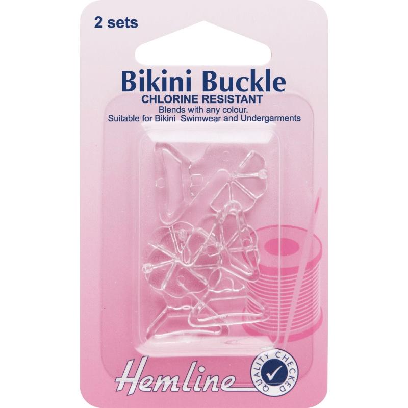 Hemline 2 x 12mm Bikini Buckles Swimwear Bra Clasp