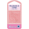 Hemline Set Of 2 Bra Hooks And Clasps Clear 9mm