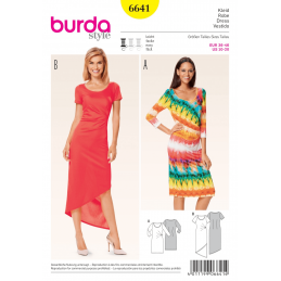 Misses Jersey Pleat Dress Burda Sewing Pattern 6641